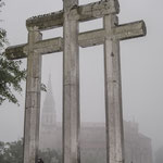 Crosses at the holy cave, Covadonga