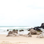 Sandy beach next to Noja