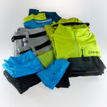Clothing items: Functional wear as pants, shorts, midlayer fleece, shirts, underwear and trekking compression socks