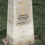 First monolith of the Camino de San Salvador, León