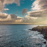 Daybreak at the coast after Pobeña village