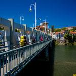 Cantabrian-asturian border bridge in Unquera