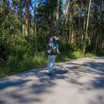 Enjoying the shadow and fragrance of eucalyptus trees