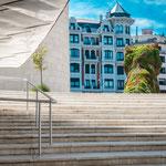 Stairs at Guggenheim museum in Bilbao
