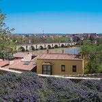 View down to the Roman bridge