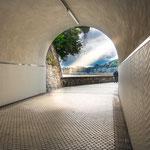 Pedestrians tunnel on the way out of San Sebastián