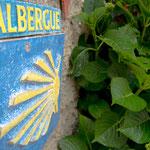 Albergue sign in Soto de Luiña
