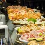Great variety of delicious pinchos served in a bar