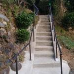 脳梗塞で片麻痺の方の階段屋外手すり
