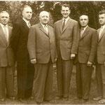 Vorstand 1958 - Thoring, von dem Berge, Busch, Huesker, Kemme, Kesselmann