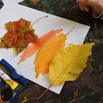Mischen von Herbstfarben