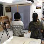 絵画修復教室-修復前の撮影 通常光・紫外線・斜光 (集中講座)