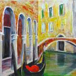 Spaziergang durch Venedig 4, 2015, 40 x 60 cm, Acryl auf Leinwand