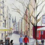 Friesenstraße,  40 x 30 cm, Mischtechnik auf Papier