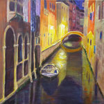 Nachspaziergang durch Venedig 2, 2015, 40 x 40 cm, Acryl auf Leinwand