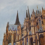 Kölner Dom, 2018, 40 x 50 cm, Acryl auf Leinwand