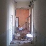 Die alte Struktur des Hauses kommt zum Vorschein.