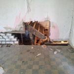 ...freischwebende Wände untermauern...