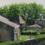 L'église, le pigeonnier et le presbytère