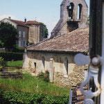 L'église vue depuis une fenêtre du presbytère