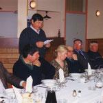 Discours de Jean-Michel Riot, président de l'ACCA, lors du banquet des chasseurs d'Escoussans.