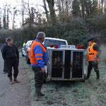 Remorque des chiens courants au virage de Balaurin