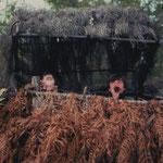 Eric Bertin et Eric Paillet sifflant les grives