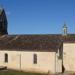 Côté sud de l'église