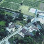 Vue aérienne du Bourg d'Escoussans