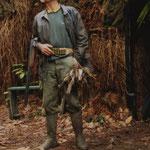 Jeannot Bertin, chasseur de grives à Pasquet.