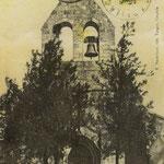 Carte postale de l'église d'Escoussans