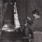 André Martin distillait du vin en hiver.