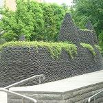 鋳込み成形タイルの施工例 公園