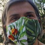 Маска джунглей цветы  по моде интерфейс  Дорис Штрассер / Даниэла Даскалова, Чистый хлопок