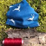 Маска м & н & м от др, Дизайн ткани животных /оленей, регулируемые ремни, Латунные / бронзовые проушины