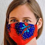Maske 30 von Irene Nabiddo, 2020, Stoff, Innenteil mit Lasche für Vliestuch, handgenäht / Edition 40 Stück