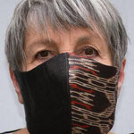 Mask 31 THATSART by Waltraud Jungwirth, T´nalak, handwoven from the lead fibers of a palm tree species from the philippines, completky washable
