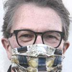 """Maske 19 """"Wiener Motive"""" von DistrictART, 2020, Atmungsaktiver Baumwoll-Twill, Digitaldruck, mehrere Editionen"""