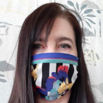 "Maske 25 ""Maulkorb, verblümt"" von sagru, 2020, Seide, handgenäht / Edition 1 Stück"