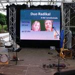18. Juni 2011 14:56 Uhr: Die Bühne ist gerichtet, alles vom Feinsten inkl.LED-Leinwand, Riesen-PA, Licht usw,allein....