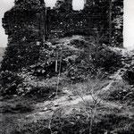 La cour du Château de Calmont d'Olt