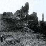 Vue sud, Château de Calmont d'Olt