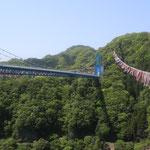 茨城方面へ。竜神大つり橋にいってきました。