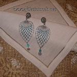 Goccia argento-turchese