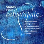 Affiche pour un stage de calligraphie - © Serge Cortesi