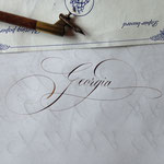 Prénom calligraphié en Anglaise - © Serge Cortesi