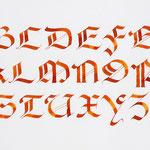 Calligraphie en Gothique rotunda - © Serge Cortesi