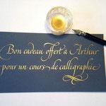 Bon cadeau personnalisé de La Maison de la Calligraphie - © Serge Cortesi