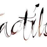 Calligraphie à l'aide d'un morceau de bois - © Serge Cortesi
