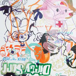 JUDAS ARRIETA Funny love 73x54cm acrylic & marker on canvas 2010